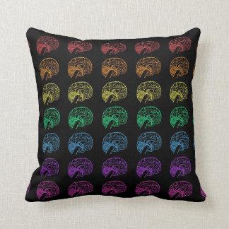 Rainbow Brains - Black Cushion