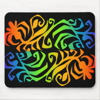 rainbow branches mouse pad