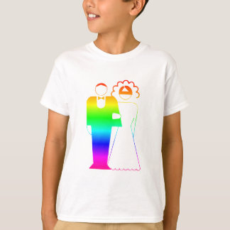 Rainbow Bride And Groom 2 T-Shirt