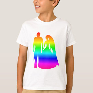 Rainbow Bride And Groom T-Shirt