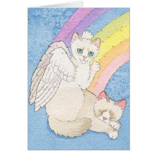 Rainbow Bridge Cat Condolence Notecard Stationery Note Card