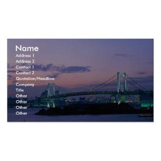Rainbow Bridge crossing Tokyo Bay, Japan Business Card Template