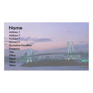 Rainbow Bridge crossing Tokyo Bay, Japan Business Card Templates