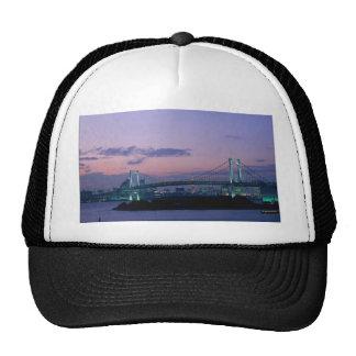 Rainbow Bridge crossing Tokyo Bay, Japan Trucker Hat
