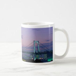 Rainbow Bridge crossing Tokyo Bay, Japan Coffee Mug