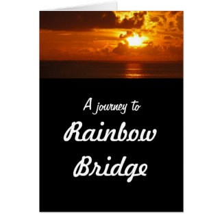 Rainbow Bridge - dog sympathy Card