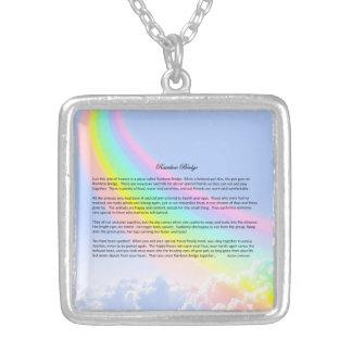 Rainbow Bridge FEMALE Pet Sympathy Necklace