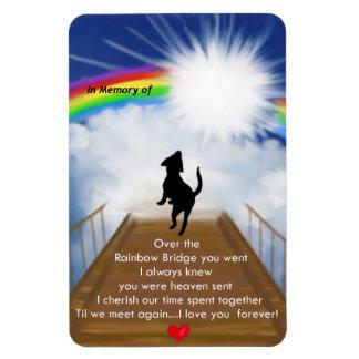 Rainbow Bridge for Dogs Magnet
