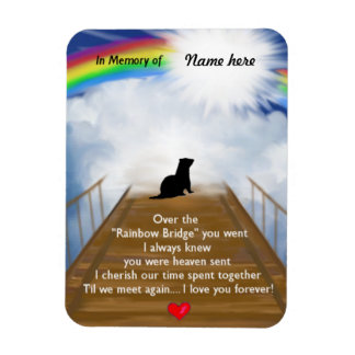 Rainbow Bridge for Ferrets Magnet