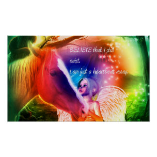 Rainbow Bridge Horse Poster