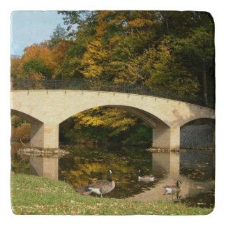 Rainbow Bridge in Fall at Grove City College Trivet