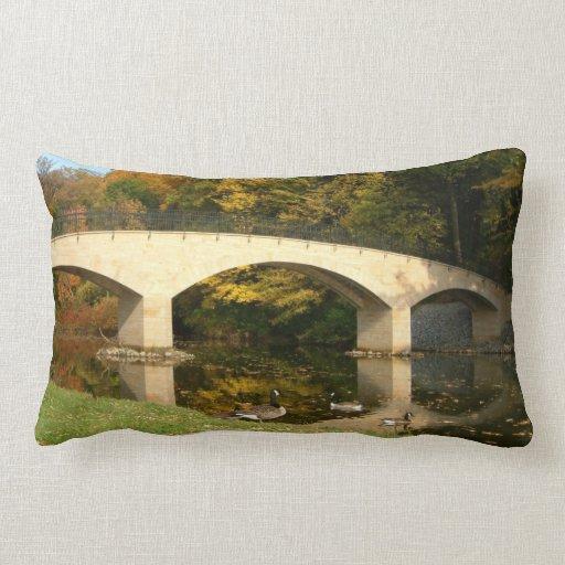 Rainbow Bridge in Fall Pillow