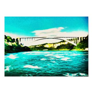 Rainbow Bridge 13 Cm X 18 Cm Invitation Card
