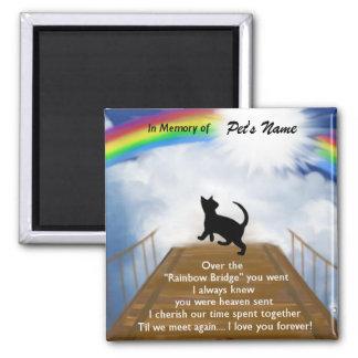 Rainbow Bridge Memorial Poem for Cats Magnet