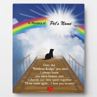 Rainbow Bridge Memorial Poem for Ferrets Photo Plaques