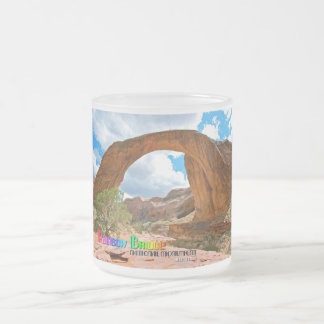 Rainbow Bridge Nat'l Monument 10 Oz Frosted Glass Coffee Mug