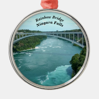 Rainbow Bridge, Niagara Falls Metal Ornament
