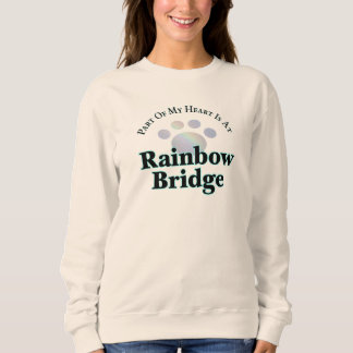 Rainbow Bridge Paw Ladies Long Sleeve Tee