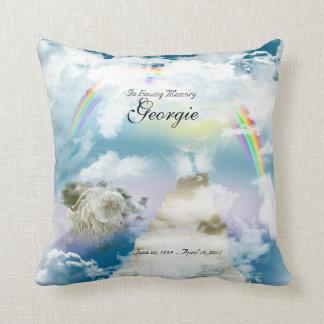 Rainbow Bridge Pet Goat Memorial Throw Pillow