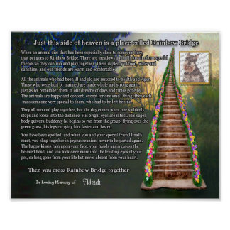 Rainbow Bridge Pet Loss Photo Wall Print