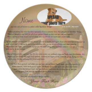 Rainbow Bridge Pet Memorial - Tan Plates