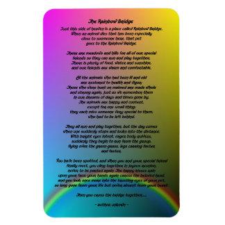 Rainbow Bridge Pet Poem Rectangular Photo Magnet
