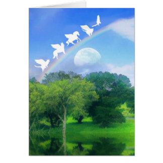 Rainbow Bridge Pet Sympathy Card