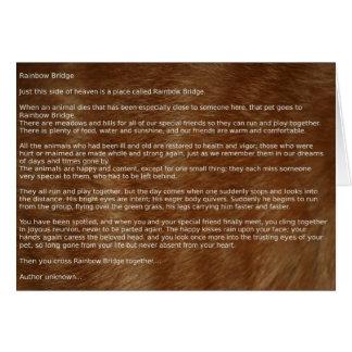 Rainbow Bridge Pet Sympathy Poetry Card