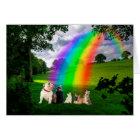 Rainbow Bridge Poem Card