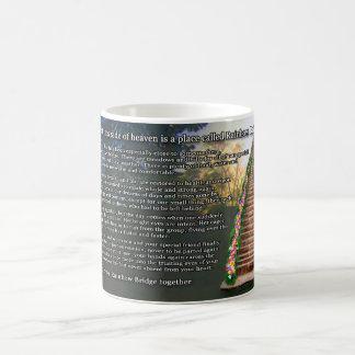 Rainbow Bridge Poem For Loss Of Female Pet Classic White Coffee Mug
