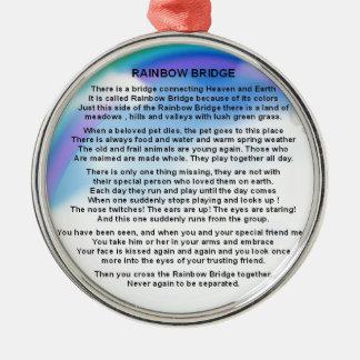 Rainbow Bridge Poem Metal Ornament