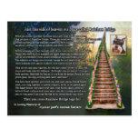 Rainbow Bridge Poem Pet Loss Sympathy Card Post Cards