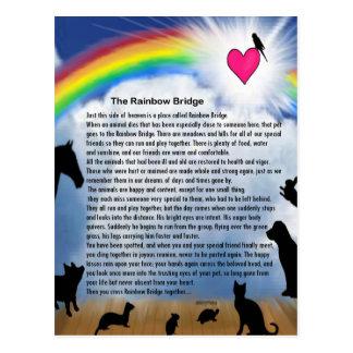 Rainbow Bridge Poem Postcard