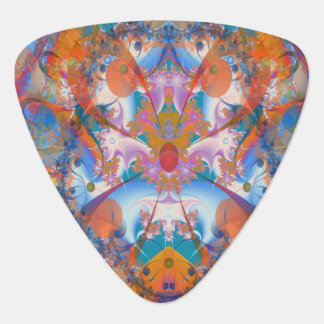 Rainbow Bridge Psychedelic Fractal Guitar Pick