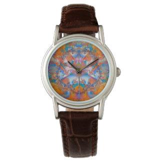 Rainbow Bridge Psychedelic Fractal Wrist Watches