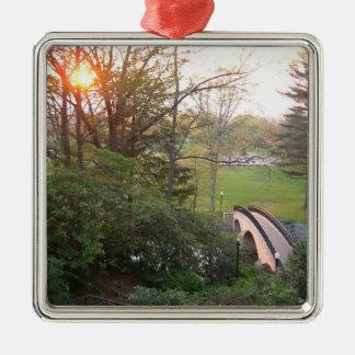 Rainbow Bridge Sunset at Grove City College Metal Ornament