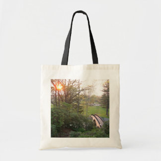 Rainbow Bridge Sunset at Grove City College Tote Bag