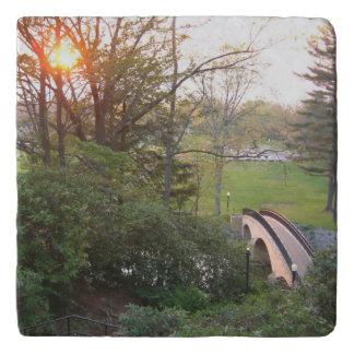 Rainbow Bridge Sunset at Grove City College Trivet