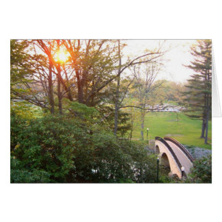 Rainbow Bridge Sunset Grove City College Photo Greeting Card