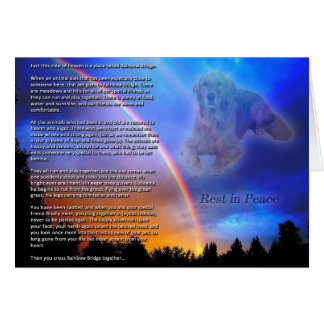 Rainbow Bridge Sympathy Card
