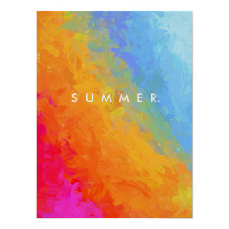 Rainbow bright colorful gradient pattern poster