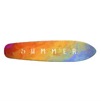 Rainbow bright colorful gradient pattern skate decks