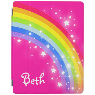 Rainbow bright pink girls named ipad cover