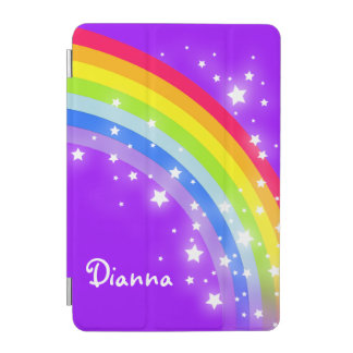 Rainbow bright purple girls named ipad cover