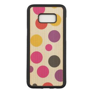 Rainbow Bubble Gum polkadot Carved Samsung Galaxy S8+ Case