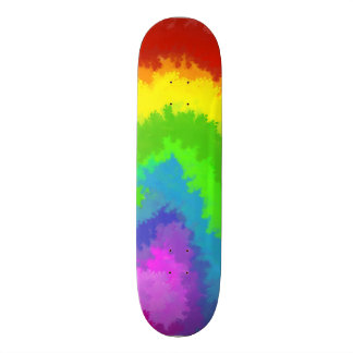 Rainbow Bubble Paint Skateboard Deck