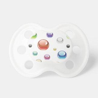 Rainbow Bubble Pattern Pacifiers