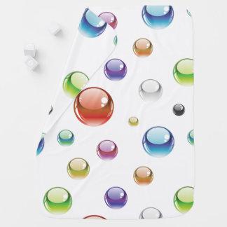Rainbow Bubble Pattern Receiving Blanket