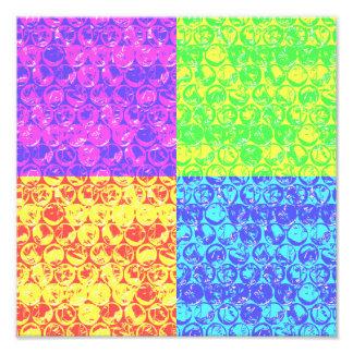 Rainbow bubble wrap pop art photo