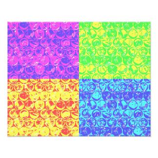 Rainbow bubble wrap pop art photo art